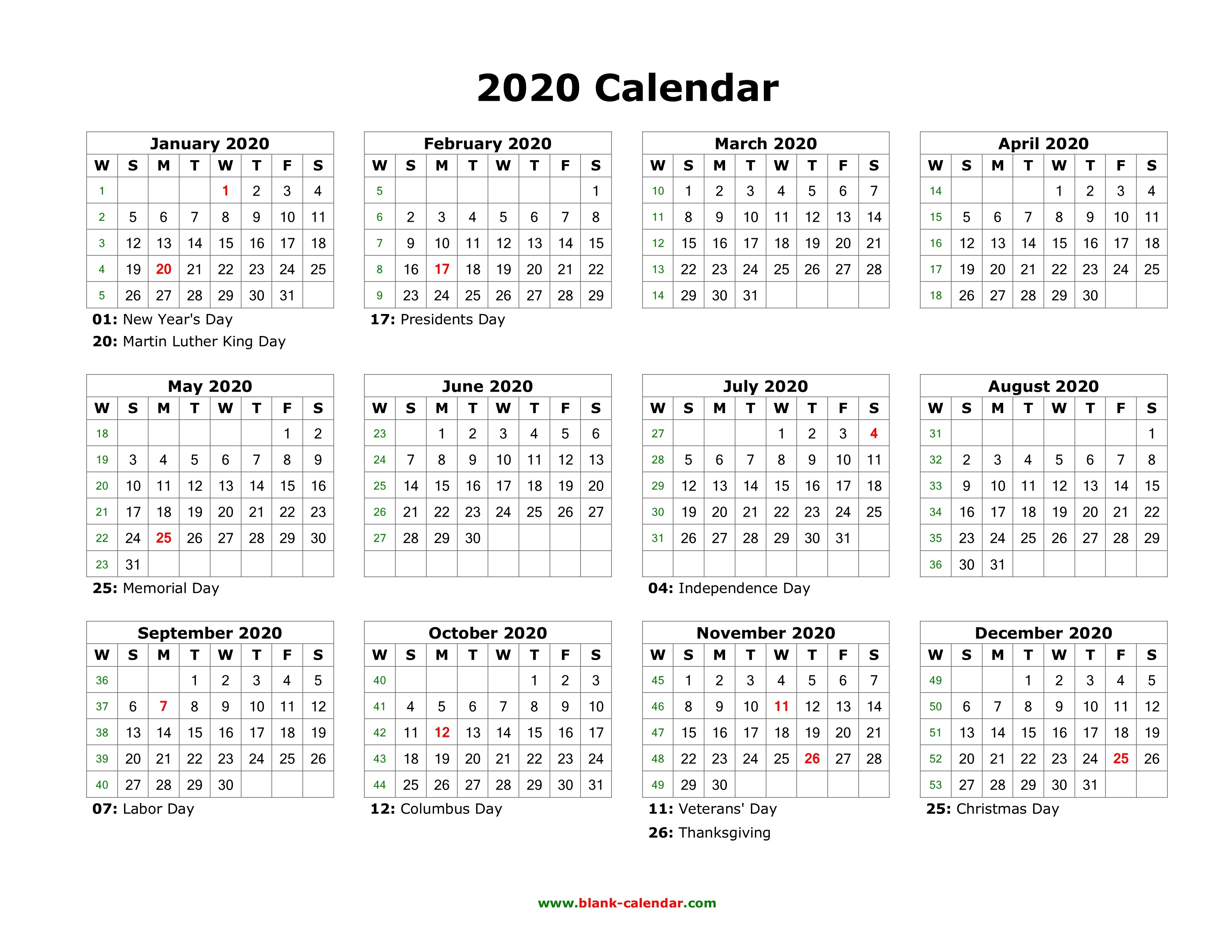 microsoft word printable calendar 2020 download blank calendar 2020 with us holidays 12 months of microsoft word printable calendar 2020